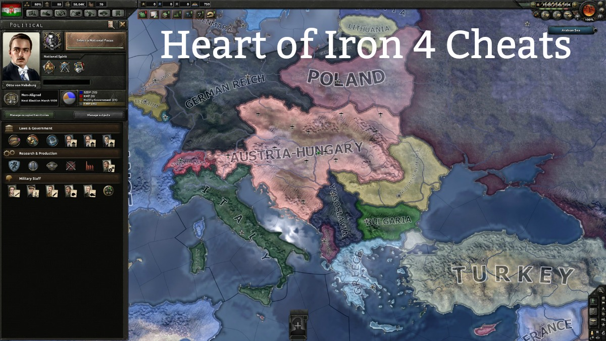 Heart of Iron 4 Cheats