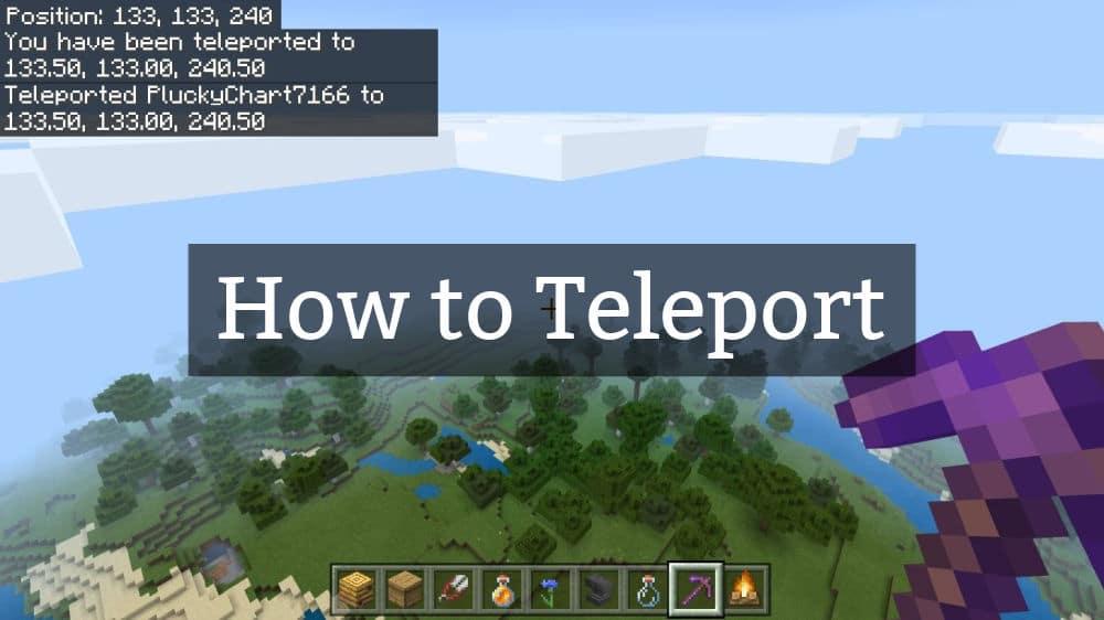 Teleport in Minecraft