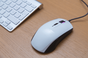 white gaming mouse