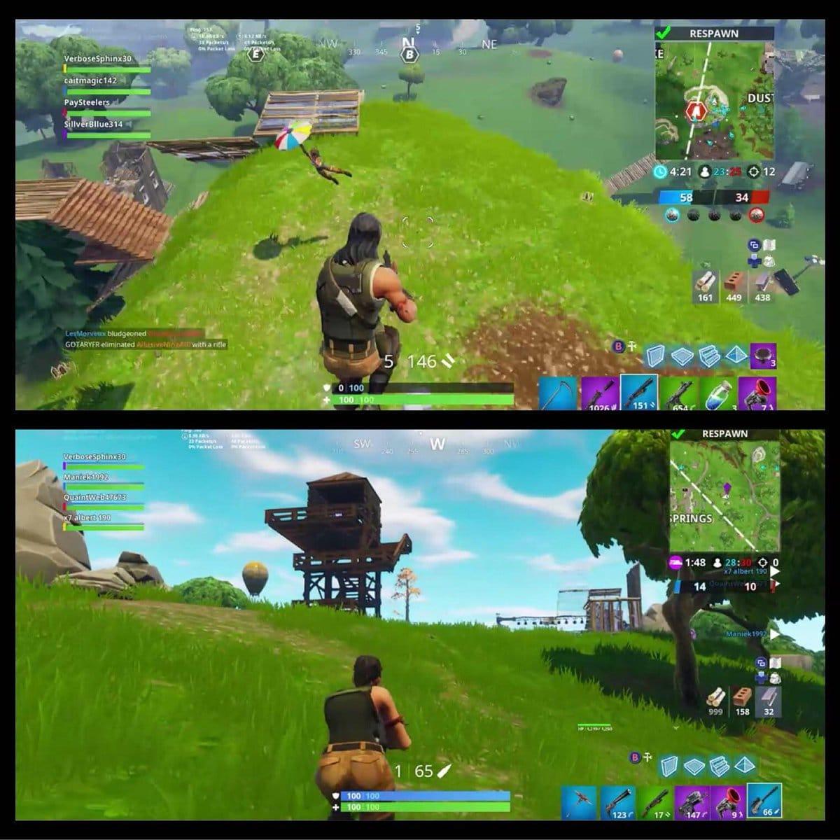 split screen mode in fortnite